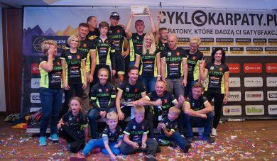 Koniec świetnego sezonu kolarzy Lubczy wCyklokarpatach. Nasz team nadrugim miejscu wdrużynówce!